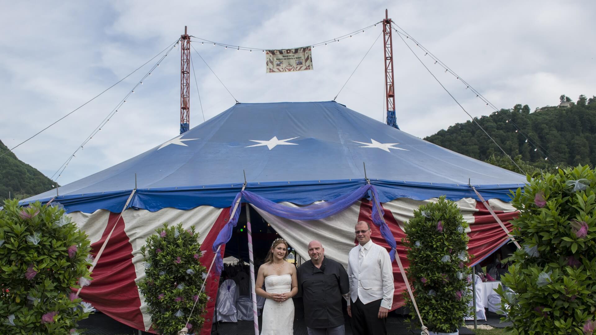 Hochzeit Zirkuszelt